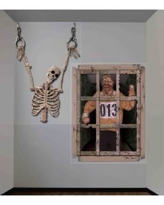 Forum Halloween Giant Dungeon Gruesome Wall 2pc 4 ft Decoration Pack