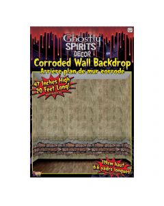 Forum Halloween Haunted House Corroded Wall Cover Old Wallpaper, Beige
