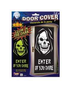 "Forum Enter If You Dare Grim Reaper Skull 30"" x 60"" Door Cover, Black"