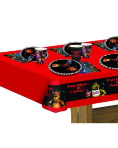 Forum Official Five Nights at Freddy's Plastic Tablecover, Red Black