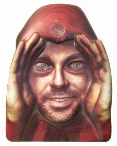 Forum Halloween Scary Stalker Creeper Window Cling, Red Beige
