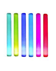 "Glow-In-The-Dark Light-up Flashing Rainbow 15.5"" LED Wand, 12 Pack"
