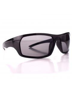 Veil Entertainment Men's Sport Sunglasses, Gloss Black Square Frame, Black Lens