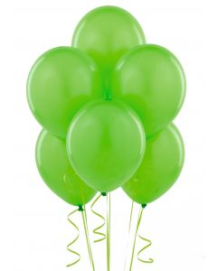 "Solid Helium Quality St Patrick's Day 11"" Latex Balloons, Lime Green, 6 CT"