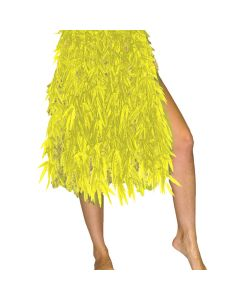 """Tropical Sun Summer Fabric leaf luau Party Skirt, Neon Yellow, One-Size 26"""" L"""