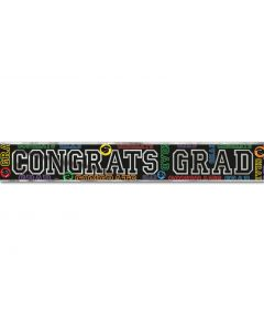 Unique Congrats Grad Graduation Party Giant Hanging 12' Foil Banner