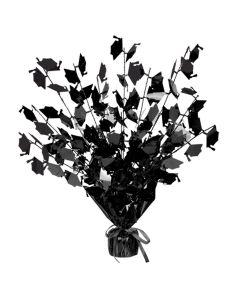 "Beistle Foil Graduate Cap Table Decoration 15"" Gleam 'N Burst Centerpiece, Black"