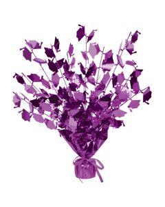"""Foil Graduate Cap Table Decoration 15"""" Gleam 'N Burst Centerpiece, Purple"""