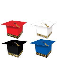 """Beistle Grad Cap Graduation Party Favor Supplies 3.25"""" Gift Boxes, 3 Pack"""