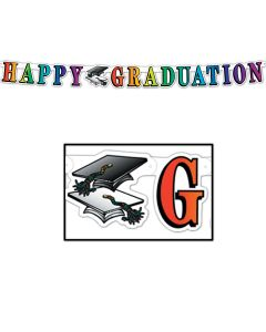 Beistle Happy Graduation Streamer Party Decoration 5' Jointed Banner
