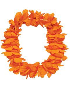 "Tropical Sun Hawaiian Luau Hula Headband 11"" Fabric Lei, Orange"