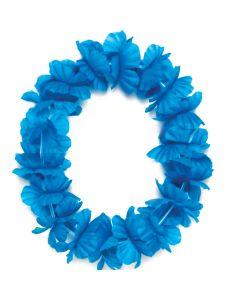 "Tropical Sun Hawaiian Luau Hula Headband 11"" Fabric Lei, Turquoise"