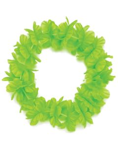 "Tropical Sun Hawaiian Luau Hula Headband 11"" Fabric Lei, Green"