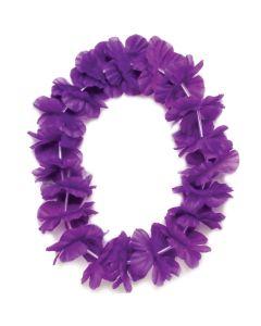 "Tropical Sun Hawaiian Luau Hula Headband 11"" Fabric Leis, Purple, 25 Pack"