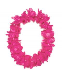 "Tropical Sun Hawaiian Luau Hula Headband 11"" Fabric Leis, Pink, 25 Pack"