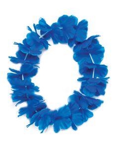 "Tropical Sun Hawaiian Luau Hula Girl Headband 11"" Fabric Lei, Blue"