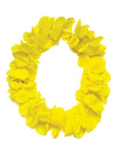 "Tropical Sun Hawaiian Luau Hula Headband 11"" Fabric Leis, Yellow, 25 Pack"
