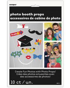 "Unique Grad Cap Graduation Accessories 10pc 10"" Photo Booth Props"