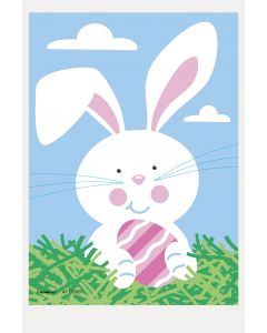 """Unique Decorative Colorful Easter Bunny Mini Plastic Treat 6"""" Cello Bags, 50 CT"""