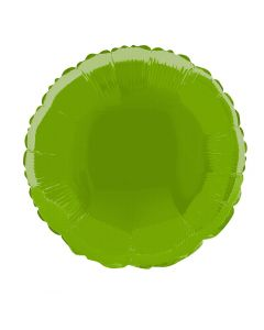 "Anagram Metallic Round Jr Shape Mylar Solid 18"" Foil Balloon, Lime Green"