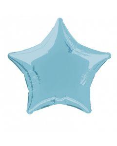 "Star Jr Shape Solid Mylar Graduation themed 19"" Foil Balloon, Pastel Blue"