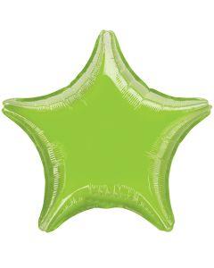 "Anagram Metallic Star Jr Shape Solid Mylar 19"" Foil Balloon, Lime Green"