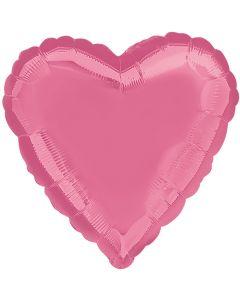 "Anagram Metallic Heart Jr Shape Mylar Solid 18"" Foil Balloon, Lavender"