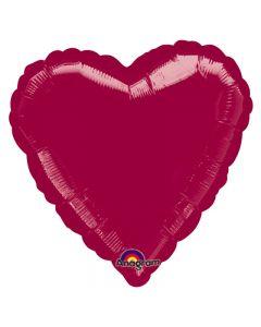 "Standard Heart Shape Mylar Graduation School Colors 18"" Foil Balloon, Burgundy"
