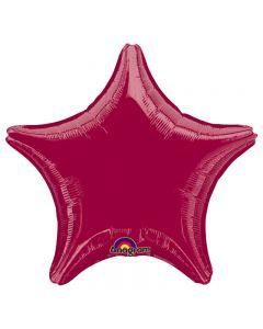 "Anagram Shiny Standard Star Shape Mylar 19"" Foil Balloon, Burgundy"
