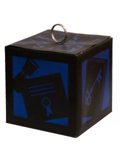 Graduation School Colors Glow Box Photo Holder 2.5in Balloon Weight, Blue