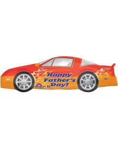 "Anagram Happy Father's Day! Race Car Super Shape 41"" Foil Balloon"