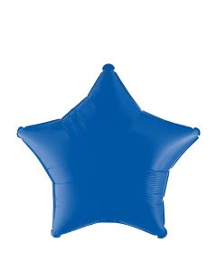 "Anagram Star Shaped Junior Solid Hue 19"" Jr Shape Foil Balloon, Navy Blue"