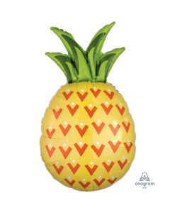 "Pineapple Tropic Summer SuperShape XL 31"" Jumbo Foil Balloon, Yellow Green"