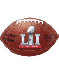 "Anagram Super Bowl LI (51) NFL Football Shape 18"" Foil Balloon, Brown"