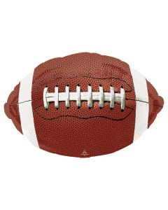 """Anagram Game Time Old-Fashioned Football Super Shape 31"""" Foil Balloon, Brown"""