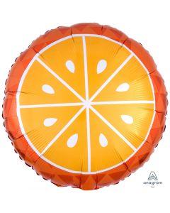 """Summer Time Tropical Bright Orange Fruit 18"""" Jr Shape Foil Balloon, Orange White"""