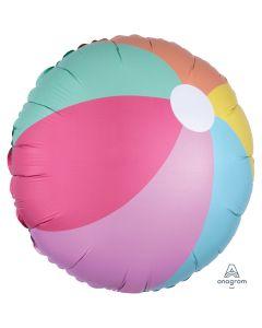 """Summer Time Fun Just Chillin' Beach Ball 18"""" Jr Shape Foil Balloon, Rainbow"""