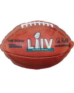 "Anagram Super Bowl 54 LIV 2020 Football 18"" Jr Shape Foil Balloon, Brown"