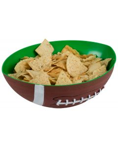 "Durable Football Party Resuable Large Snack 12"" Serving Bowl, Brown Green White"
