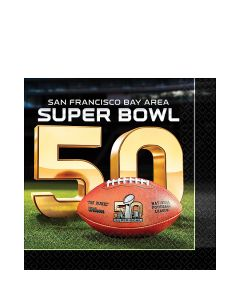 "Amscan Super Bowl 50 NFL Football Party Tableware 6"" Luncheon Napkins, 16 CT"