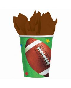 Amscan 8 Pack Football Fan Paper Cups 9 Oz - Super Bowl Party Supplies