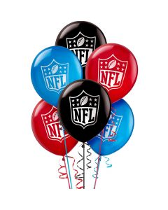 """Amscan NFL Drive Football Party Decoration 12"""" Latex Balloons, 6 CT"""