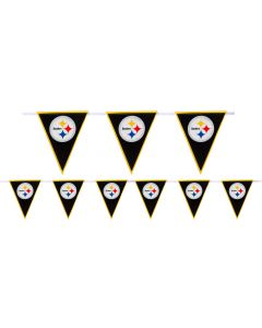 Amscan Pittsburgh Steelers Football 12' Pennant Banner, Black Yellow