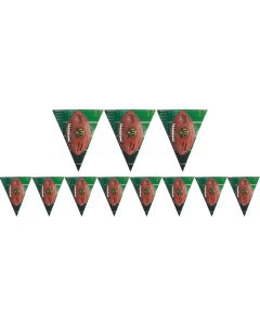 Amscan NFL Drive Football Party Deocration 12' Pennant Banner, Brown Green