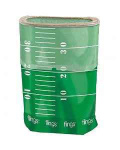 Football Field Flings Pop-Up Trash Bin 22in tall Decoration Prop, Green White