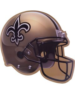 "Amscan New Orleans Saints Football Helmet Decoration 12"" Cutout, Black Gold"