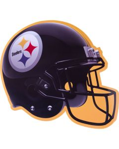 "Amscan Pittsburgh Steelers Football Helmet Decoration 12"" Cutout, Black Yellow"