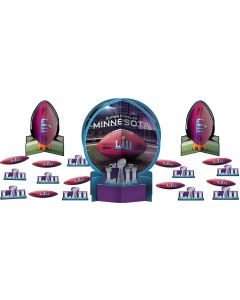 "2018 Super Bowl LII 52 Football Party Table Decor Kit 23pc 12"" Decoration Pack"