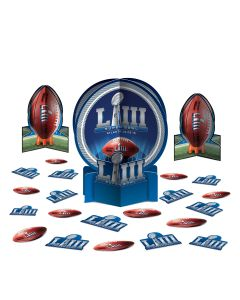 "2019 Super Bowl LIII 53 Football Party Table Decor Kit 23pc 12"" Decoration Pack"