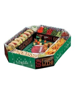 """Amscan Super Bowl Party Football Stadium Snack 25"""" Serving Tray, Green"""